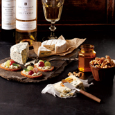 Perfect Cheese Plate with Wine